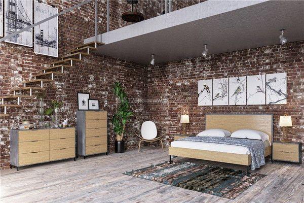 现代跃层式家居装修卧室设计效果图